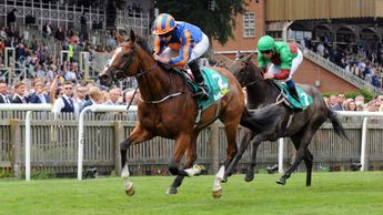Clemmie pictured winning the Duchess Of Cambridge Stakes