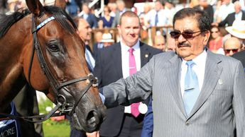 Sheikh Hamdan with his brilliant sprinter Battaash