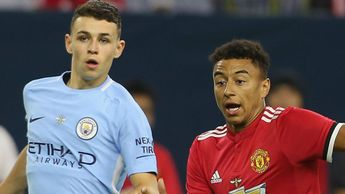 Phil Foden in action against Man United