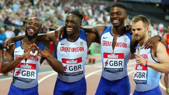 The GB 4x400m relay team in London