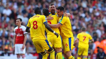 Crystal Palace celebrate scoring at Arsenal