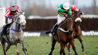 Champ (green and gold) wins under Barry Geraghty