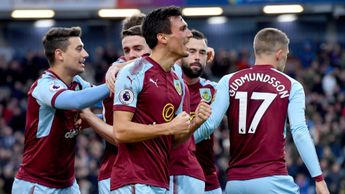 Jack Cork and Burnley celebrate