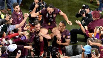 Billy Slater is chaired from the field