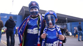 Ipswich fans at Portman Road