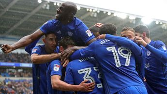 Cardiff players celebrate