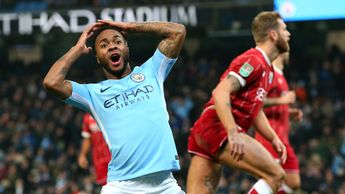 Raheem Sterling shows Manchester City's frustration