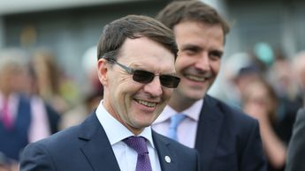 Aidan O'Brien in the winner's enclosure again
