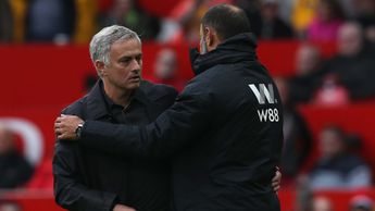 Jose Mourinho and Nuno Espirito Santo after Man Utd drew with Wolves