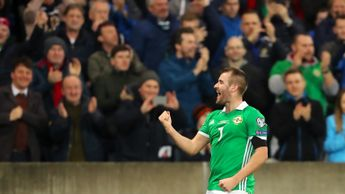 Northern Ireland's Niall McGinn celebrates scoring