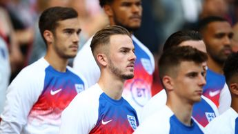 James Maddison (centre) will have to wait for his England senior debut