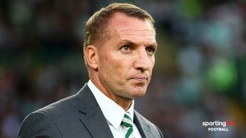 Brendan Rodgers watching Celtic in Europa League action
