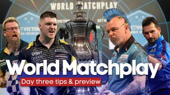 It's the third day of the World Matchplay in Blackpool