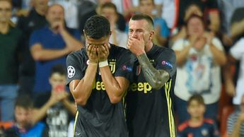Cristiano Ronaldo breaks down in tears after being sent off