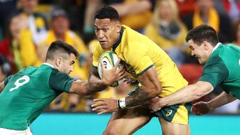 Full back Israel Folau has scored 32 tries in 65 games for Australia