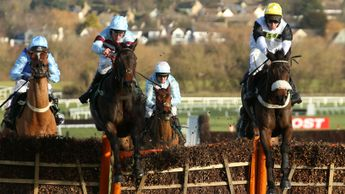 Western Ryder (right) impresses at Cheltenham