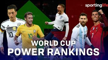 World Cup Power rankings