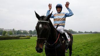 Davy Russell celebrates