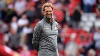 Liverpool boss Jurgen Klopp all smiles at Anfield