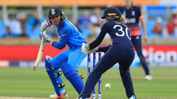 Smriti Mandhana in action against England