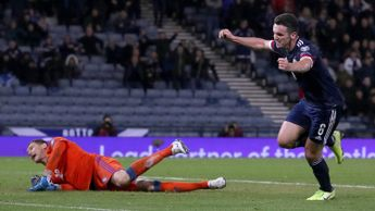 John McGinn: Scotland attacker celebrates after scoring against Kazakhstan in Euro 2020 qualifying