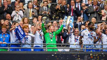 Tranmere lift the trophy after winning the Sky Bet League Two play-off final