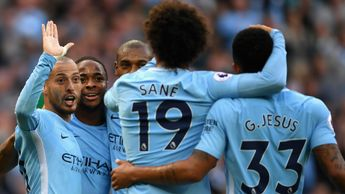 David Silva and Man City celebrate