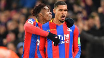 Wilfried Zaha and Ruben Loftus-Cheek celebrate