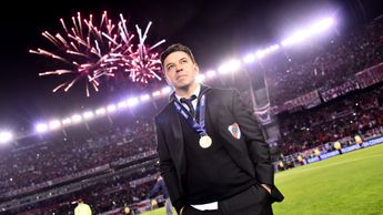 Marcelo Gallardo after winning the CONMEBOL Recopa Sudamericana 2019