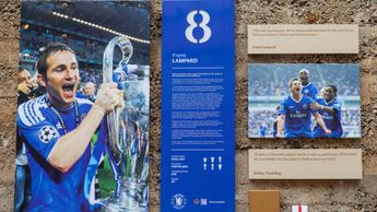 Frank Lampard features on the legends wall at Stamford Bridge