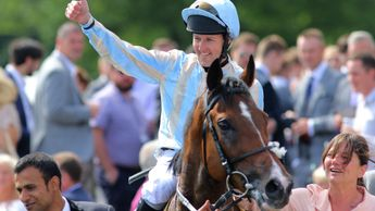 Tom Queally celebrates aboard Higher Power
