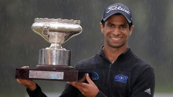 Aaron Rai with his Hong Kong Open trophy