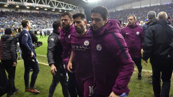 Sergio Aguero leaves the field and Manchester City exit the FA Cup