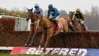 Ballydine in winning action at Sandown