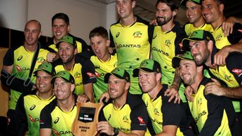 Australia celebrate their success