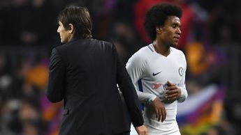 Chelsea boss Antonio Conte and Willian