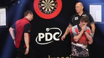 Berry van Peer is emotional after victory over Cameron Menzies (Picture: Lawrence Lustig/PDC)
