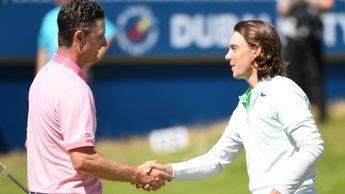 Justin Rose (left) and Tommy Fleetwood