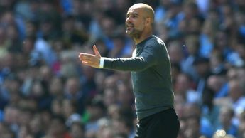 Pep Guardiola: The Man City boss instructs his players during their Premier League win over Tottenham