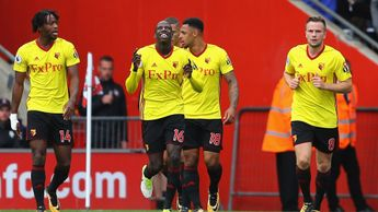 Abdoulaye Doucoure of Watford celebrates