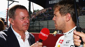 Martin Brundle and Sebbastian Vettel