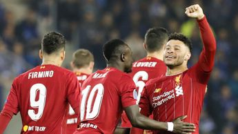 Alex Oxlade-Chamberlain celebrates scoring for Liverpool at Genk in the Champions League