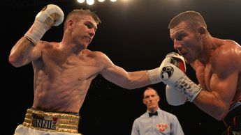 Liam Smith (left) in action against Liam Williams