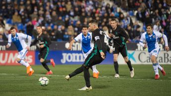 Sergio Ramos scores Real Madrid's third goal against Leganes