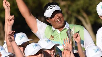 Kiradech Aphibarnrat with his trophy