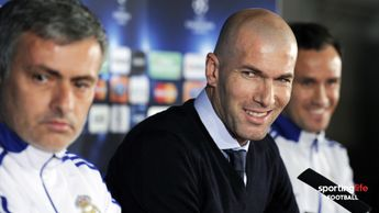 Zinedine Zidane and Jose Mourinho at Real Madrid in February 2011