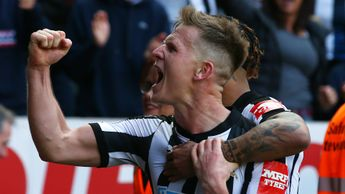 Matt Ritchie celebrates his winner for Newcastle against Arsenal