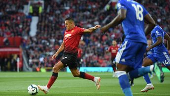 Alexis Sanchez: The 29-year-old takes aim in Manchester United's season-opener v Leicester