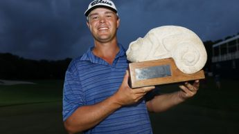 Patton Kizzire celebrates his first PGA Tour title