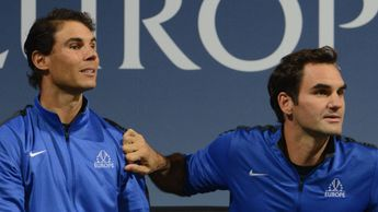 Rafael Nadal (l) and Roger Federer: Doubles team